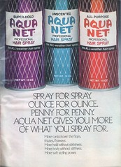 Vintage Aqua Net (twitchery) Tags: vintage ads hair feather 80s 70s hairspray vintageads vintagebeauty