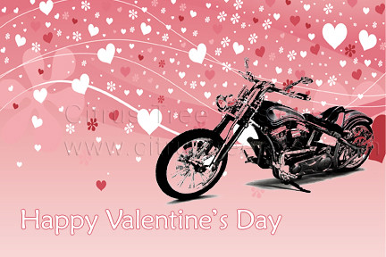 Valentines Harley Davidson Motorcycle Wallpaper