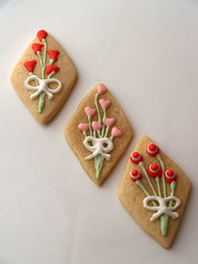 bouquet cookies (nikkicookiebaker) Tags: cookies decorated