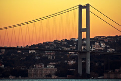 All Day All Night Long .. (iKhalid) Tags: bridge houses mist weather misty architecture canon turkey asia europe arty hill istanbul palace structure huge khalid bosphorus continents sarai megastructure dolmabahche