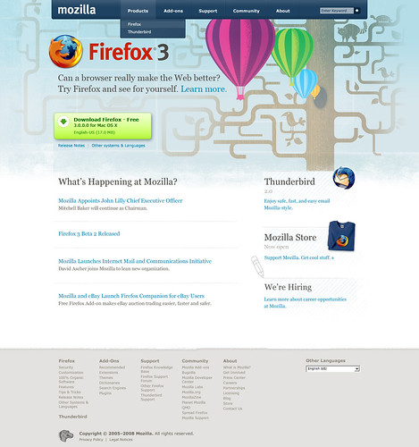 New Mozilla.com homepage