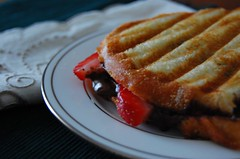 strawberry and chocolate panini