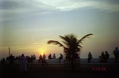 Shades of Mumbai (Jennifer Kumar) Tags: sunset bombay mumbai negativescan queensnecklace india1998 indiasunset