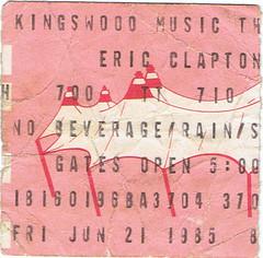 concert ticket | Eric Clapton