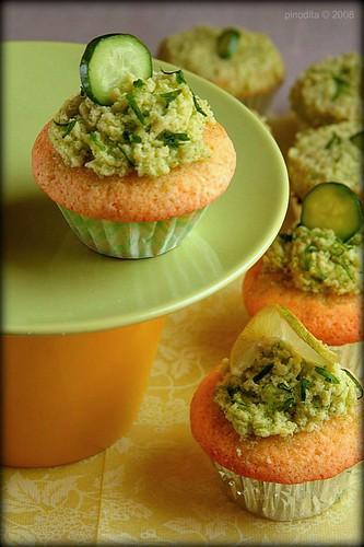 lime caramel cupcake & cucumber cupcake