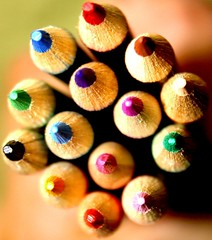 The colorful world of pencils! (RajRem) Tags: wood pink blue school red orange black macro green art colors beauty yellow closeup kids pen pencil pencils photoshop paper photography grey rainbow colorful exposure flickr pretty play view purple cross shot bright image artistic zoom drawing top eraser fineart clips photographers clip explore clay marker crayons pens crayon sharpen supplies delicate sharpener markers paperclips multicolor topic paperclip zooming binders magiccolors lineups mywinners avision canon400d canondigitalrebelxti brillianteyejewel officestationary detailedpencils specialtypencils