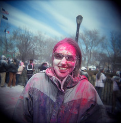 34540003.jpg (dogseat) Tags: pink people color smile fun glasses weird holga colorful ishootfilm queens dye richmondhill phagwa phagwah babypowder