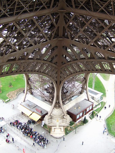 Eiffel Tower looking down to Pilier Nord
