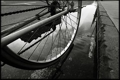 Riders on the storm (Mayastar) Tags: bw bicycle ridersonthestorm mayastar
