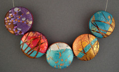 abstract landscapes Side 2 (metalartiste) Tags: naftali artbeads polymerclaybeads lentilbeads focalbeads pcagoe