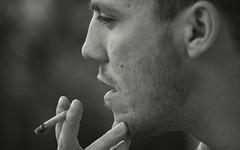 Thinking (Alice's Glass) Tags: boy portrait white man black smoking uomo e bianco nero ragazzo sigaretta cigaretteritratto