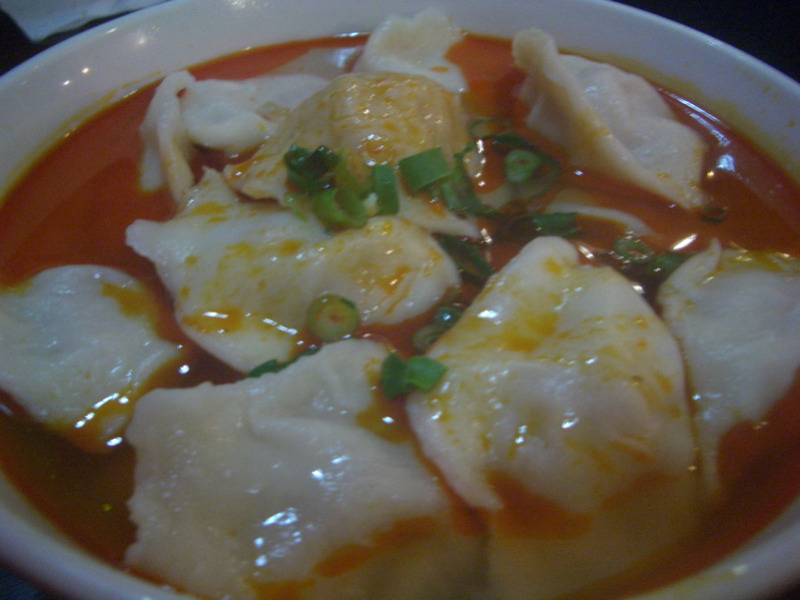 Chilli oil dumplings