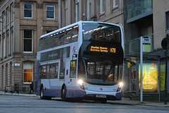 Solitary Departure (X78) (33996HB) (DeadManBreathing96) Tags: first glasgow firstglasgow alexander dennis adl enviro 400 mmc e400mmc sn65 ogm sn65ogm 33996hb douglas street scotland olympialivery caledonia