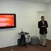 Francisco Duarte palestrando para Jornalistas e convidados em evento da Devassa