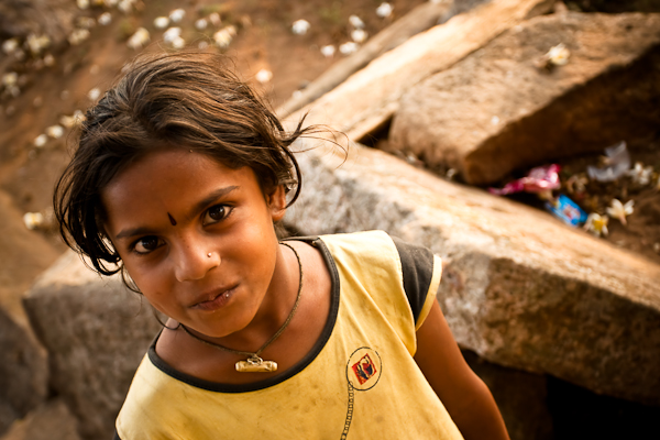 A delightful girl we met - Melukote, Chitra Aiyer Photography