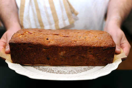 strawberry rhubarb banana bread