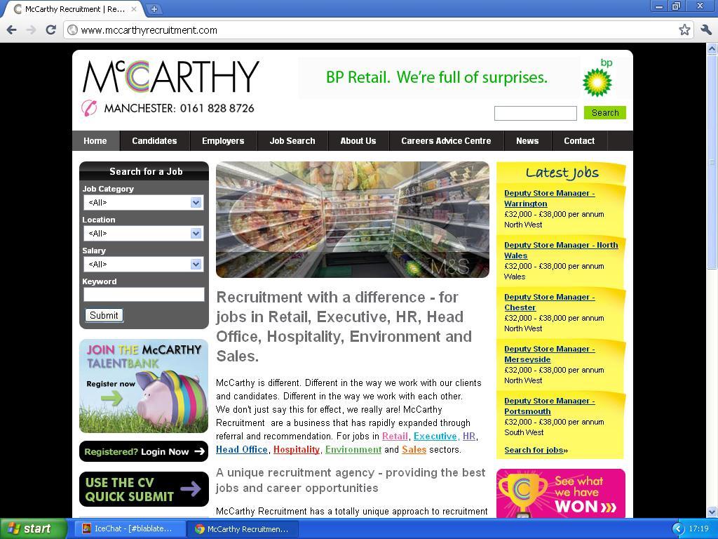 mer om mccarthy recruitment