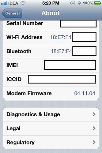 iOS 5 Baseband