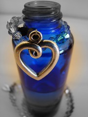 Have a great week-end my friends***** (sallysue007) Tags: blue beads bottle heart supershot flickrsbest diamondclassphotographer fickrdiamond