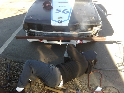 Welding in a bumper replacement