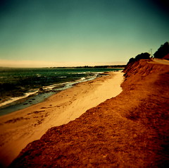the reality of my dreams (microabi) Tags: ocean california blue sea sky sun beach holga waves catchycolours sandy warmth bigsur suf therealityofmydreams
