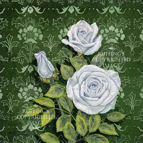 """Innocence"" ER14 by Elizabeth Ruffing White Roses Floral"