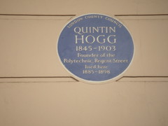 Photo of Quintin Hogg blue plaque
