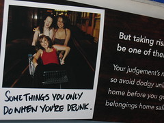 Counter-productive campaign? (tripu) Tags: uk london drunk underground photo december carriage tube alcohol advert publicity campaign 2007 misleading