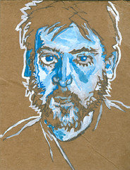 self-portrait #03 guache on cardboard 5 x 7 copy