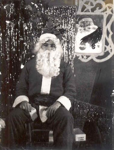 Rog as a department store Santa
