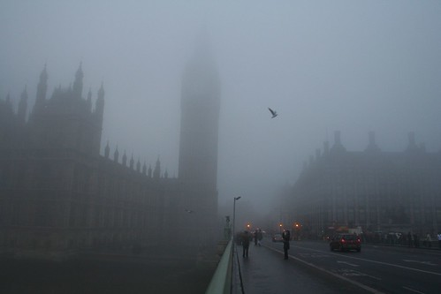 London - Westminster in the fog 2