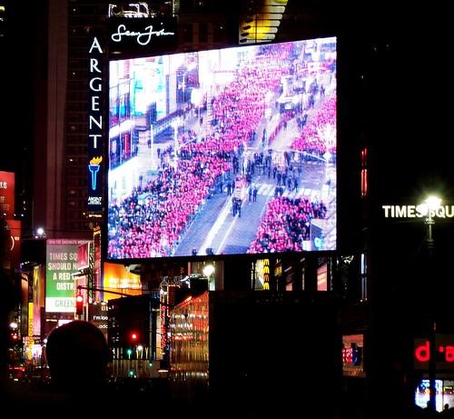 Time Square revelers