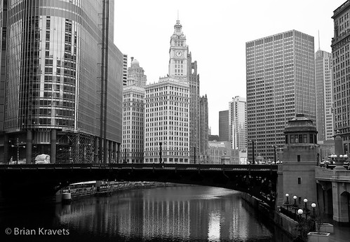 Chicago River, Trump bldg, Wrigley Building