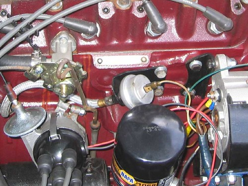 Mg midget loses oil pressure like this