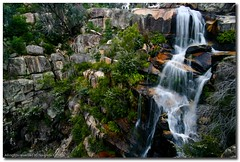 Gibraltar falls (NavindaK) Tags: green water rock canon flow waterfall rocks australia wideangle falls vegetation canberra flowing gibraltar eos350d act corin gushing sigma1020mm gibraltarfalls
