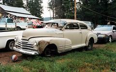 Cool 1947 Chevrolet Fleetline Aerosedan (Martin van Duijn) Tags: auto classic chevrolet car automobile rusty voiture junkyard collectible 47 1947 fleetline wagen aerosedan