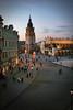krakow: market square - aerial