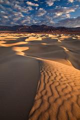 Looney Dunes (KPieper) Tags: california clouds sunrise patterns dunes textures sanddunes stovepipewells deathvalleynationalpark naturesfinest colorphotoaward holidaysvacanzeurlaub diamondclassphotographer betterthangood goldstaraward kevinpieper kpieper pieperphotographynet
