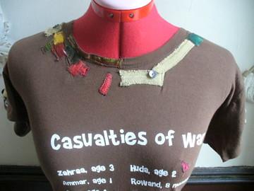 Collar Detail Anti-War T-Shirt