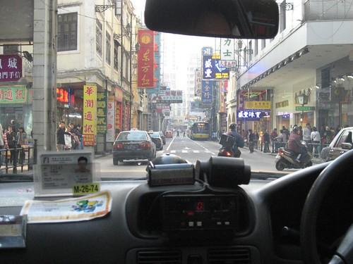 Street from Macau taxi