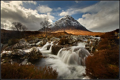 Buachaille Etive Mor (Ally Mac) Tags: longexposure winter cloud mountain snow water river landscape scotland waterfall spring highlands snowy heather dramatic scottish peak snowcapped mount burn glencoe arg capped etive glenetive munro buachailleetivemor stobdearg