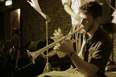 Marco (Isabelle Caine) Tags: boy portrait music live jazz blues musica uni ritratto tromba bossanova ragazzo cravatta strumento barbetta bbteam