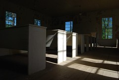 I Saw The Light (MilkaWay) Tags: windows light shadows interior pews abandonedchurch baptistchurch presbyterianchurch mtzionchurch ruralchurch hancockcounty ruralgeorgia ga15
