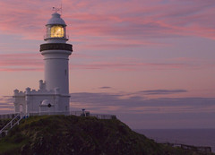 Soft sunset at Byron lighthouse (Nikonsnapper) Tags: pink lighthouse clouds soft byronbay australia2008 theloveshack exploremay42008276 nikonsnapper
