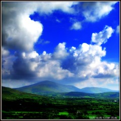 CLOUDS OVER AN IRISH MOUNTAIN (Edward Dullard Photography. Kilkenny, Ireland.) Tags: blue trees kilkenny ireland cloud white mist mountain color green nature beautiful landscape scenery postcard hill irland eire valley irlanda ierland carlow mywinners findingireland discoverireland edwarddullard alemdagqualityonlyclub