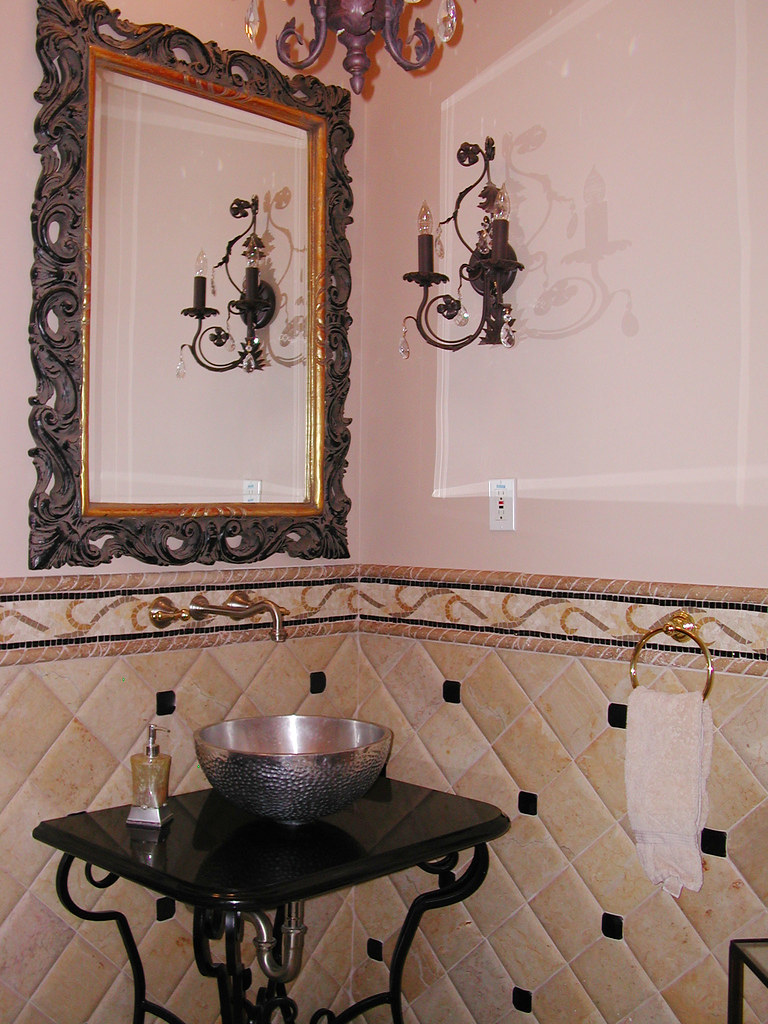 Tuscan Powder Room