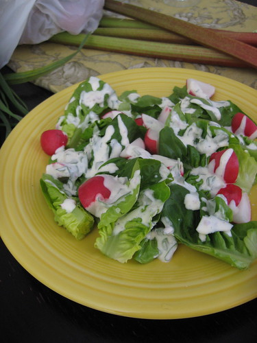 Baby Romaine, Radish and Green Goddess Salad