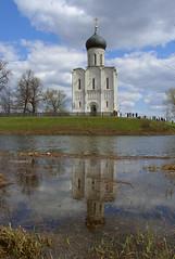 Русь \ Russia (yuriye) Tags: russia vladimir church symbol spring bogolyubovo water refletion reflection yuriye landscape