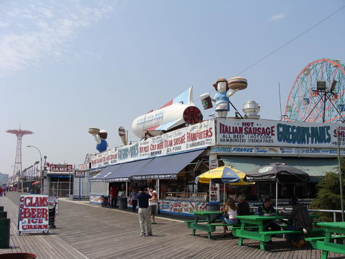Diner on the boardwalk.