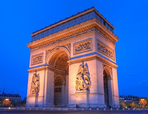 フリー画像| 人工風景| 建造物/建築物| 門/ゲート| エトワール凱旋門| フランス風景| パリ|     フリー素材|